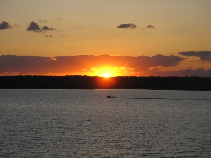 Sunset over Lake of the Woods