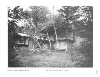 Clergy guest cabins in 1965